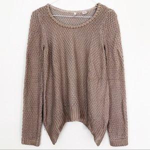 ANTHROPOLOGIE MOTH Metallic Knit Pullover Sweater